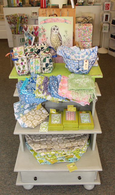 Scarves, bags, and other gifts