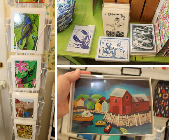 Cards and notes by local artists