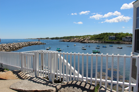 Rockport Harbor from then end of Bearskin Neck