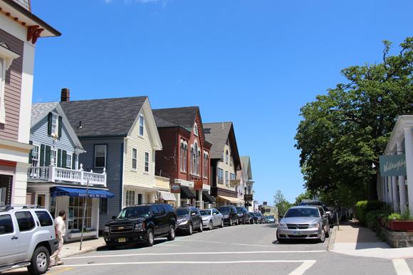 A pretty downtown Rockport street