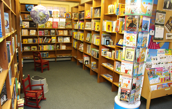 Children's section of Toad Hall Books
