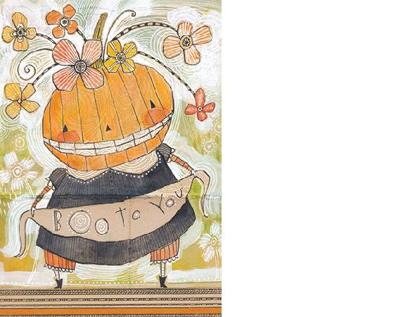 Calypso Cards Boo to You card by Cori Dantini