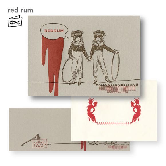 Oddball Press Redrum card