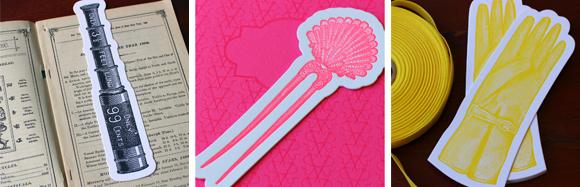 Sesame Letterpress Letterpress Bookmarks