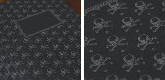 Sesame Letterpress Skull journal