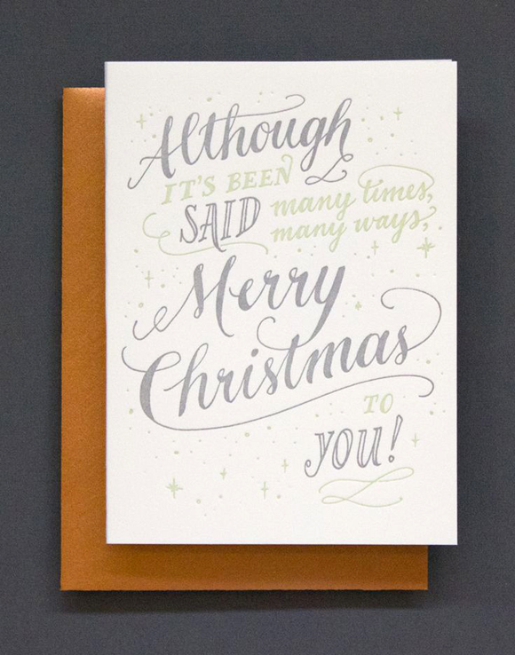 Ladyfingers Letterpress Although It's Been Said card