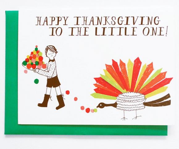 Mr. Boddington's Studio's Little Turkey's Thanksgiving card