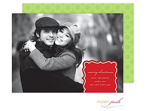 "Noteworthy Paper & Press ""Simply Holiday"" photo card by Modern Posh"