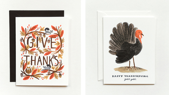 Rifle Paper Co.'s Thanksgiving cards