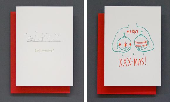 Ladyfingers Letterpress Christmas cards