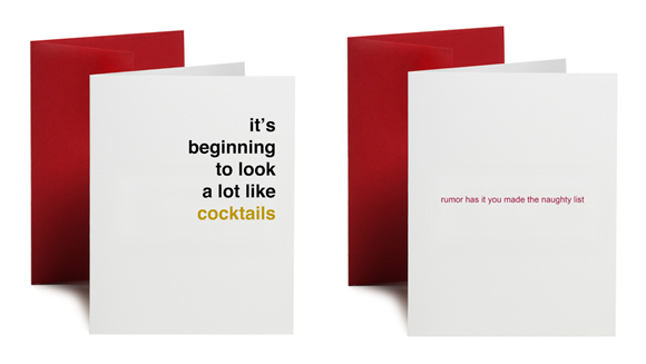 Oh My Word holiday cards