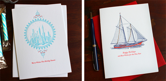 Sesame Letterpress holiday cards