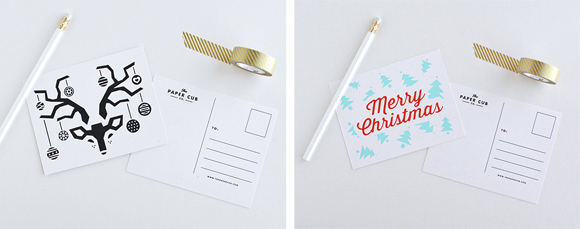 The Paper Cub Co. Christmas cards