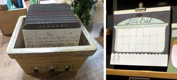 1canoe2 Perpetual Calendar and Let's Eat Menu Notepad