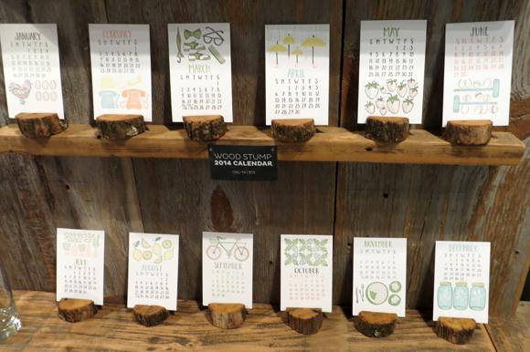1canoe2 2014 Wood Stump Letterpress Calendar