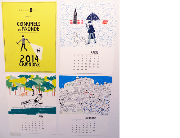 Mr. Boddington's Studio 2014 Criminels du Monde Calendar