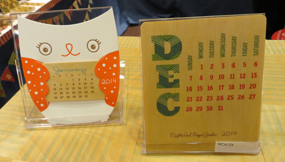 Night Owl Paper Goods 2014 Die-Cut Owl and Pattern Desk Calendars