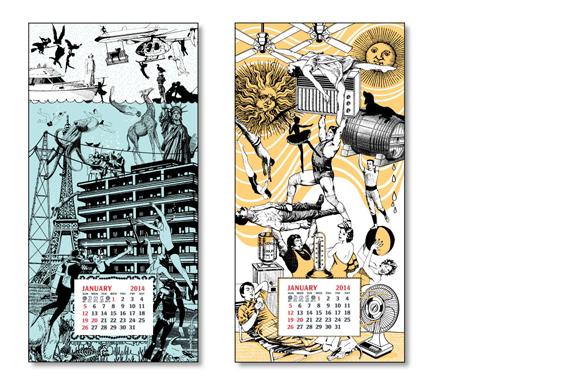 Oddball Press 2014 Wall Calendars