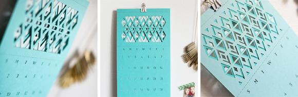 Plane Paper 2014 Geometric Calendar
