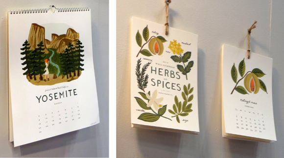 Rifle Paper Co. 2014 Travel America and Herbs and Spices Calendars