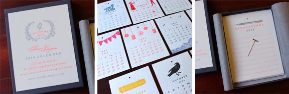 Sesame Letterpress 2014 Letterpress Calendar
