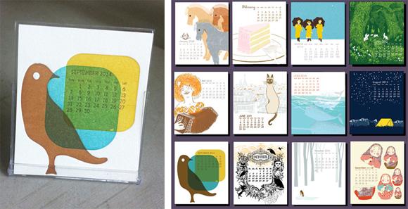 ilee papergoods 2014 Letterpress and Silkscreen Calendar