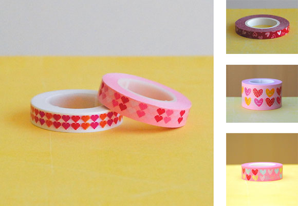 Ginko Papers' FunTape Hearts series
