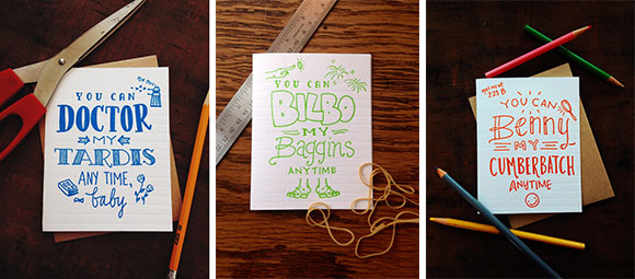 """Igloo Letterpress """"You Can"""" line of love cards"""