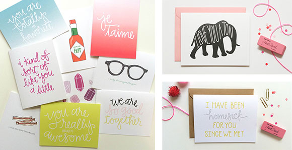 Puddleduck Paper Co. Love cards