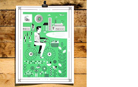 """Martin Azambuja's """"Spring"""" poster for Holstee."""