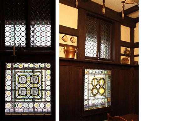 Windows in The Grolier Club's Dutch Kitchen
