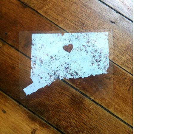 "Harford Prints' ""Small State, Big Heart"" bumper sticker"