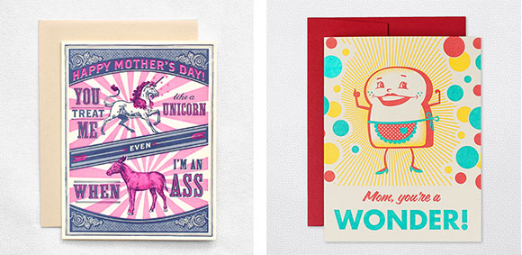 Hello!Lucky's Unicorn and Ass and Wonder Mom cards