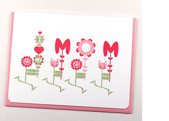 Maginating's Flowers for Mom card
