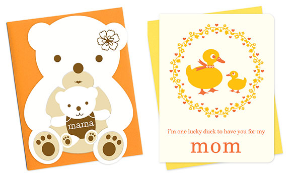 Night Owl Paper Goods' Mama Bear and Lucky Duck cards