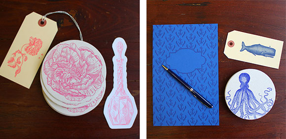 Sesame Letterpress's La Vie en Rose and Mariner Stationery Sets