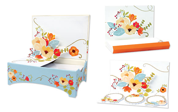 Up With Paper Ginger Flowers Luxe Desktop Notes, Pop-Up Notepad, and Sticky Notes