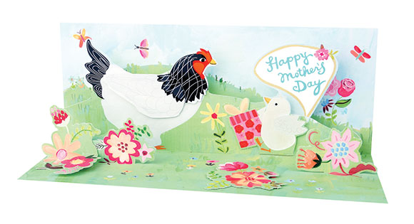Up With Paper Mother Hen card