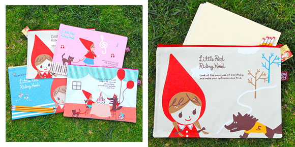 Ginko Papers' Red Riding Hood Bags