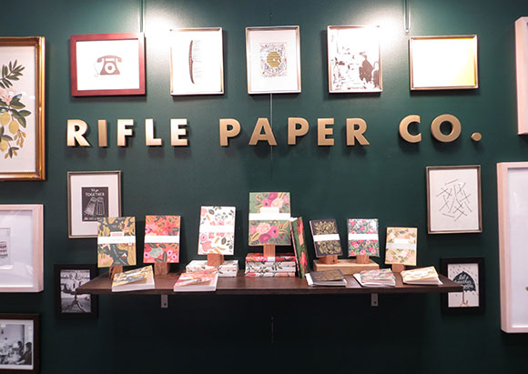 Rifle Paper Co. signage, NSS 2013