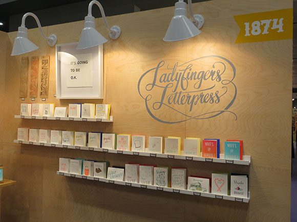 Ladyfingers Letterpress booth signage, NSS 2013