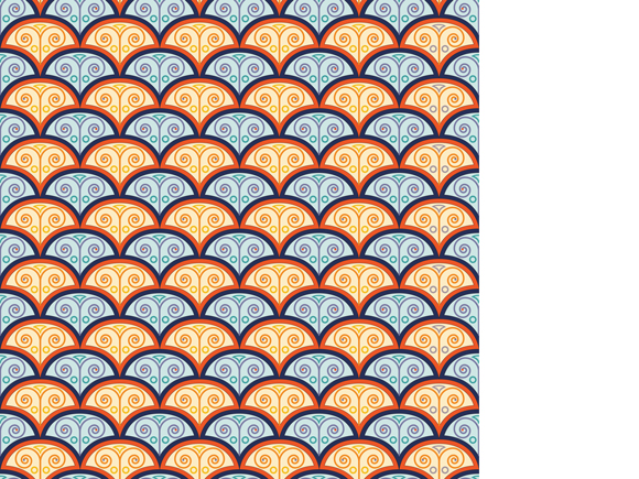 Advanced Track, Brief 2, fish scales pattern by Jessica Southwick