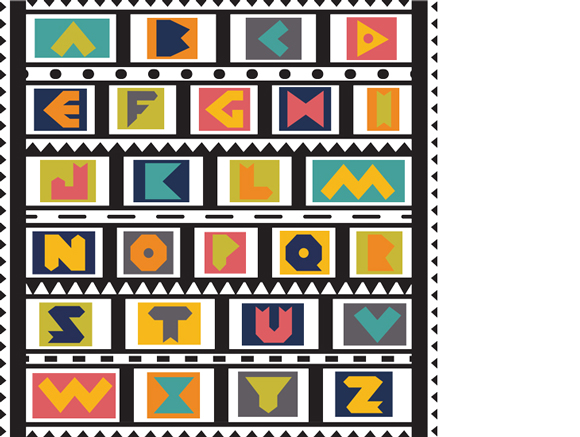 """Tribal"" alphabet, by Jessica Southwick"