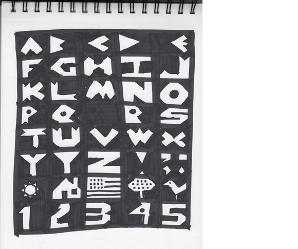 Rough alphabet by Jessica Southwick