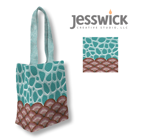 Animal Prints tote bag mock-up by Jessica Southwick