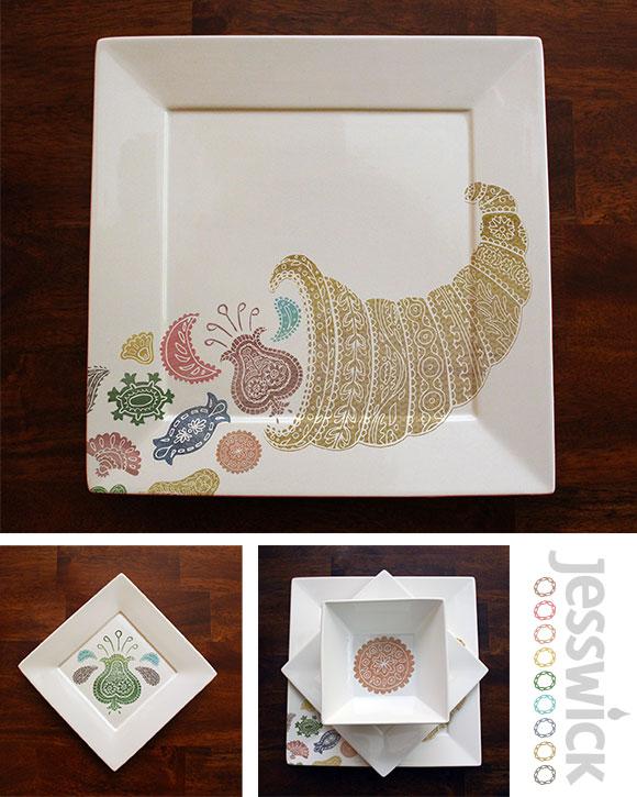 Suzani plates project by Jessica Southwick