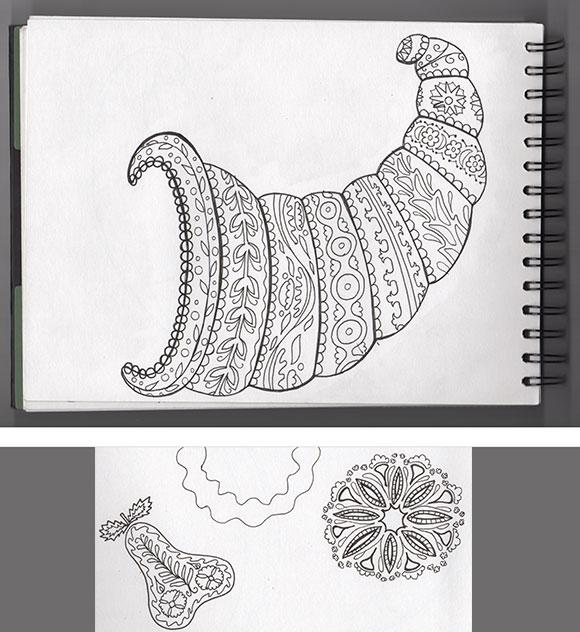 Suzani sketches - round 2 - by Jessica Southwick
