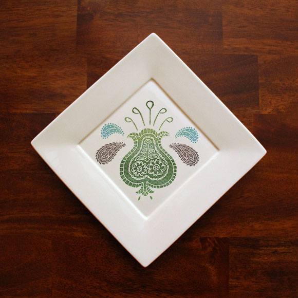 Small suzani plate mock-up