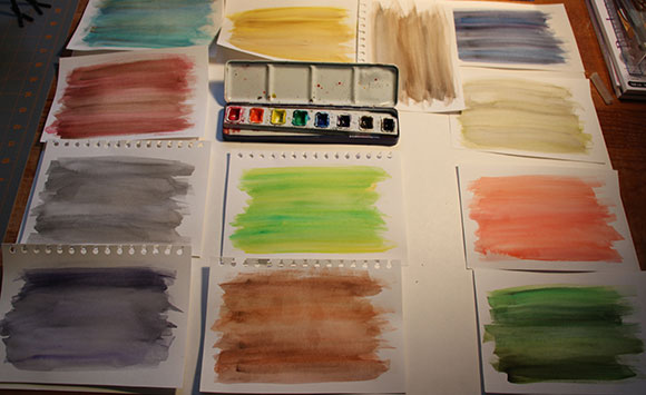 Watercolor washes - by Jessica Southwick