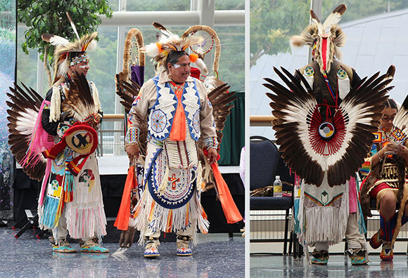 Eagle feather bustle regalia
